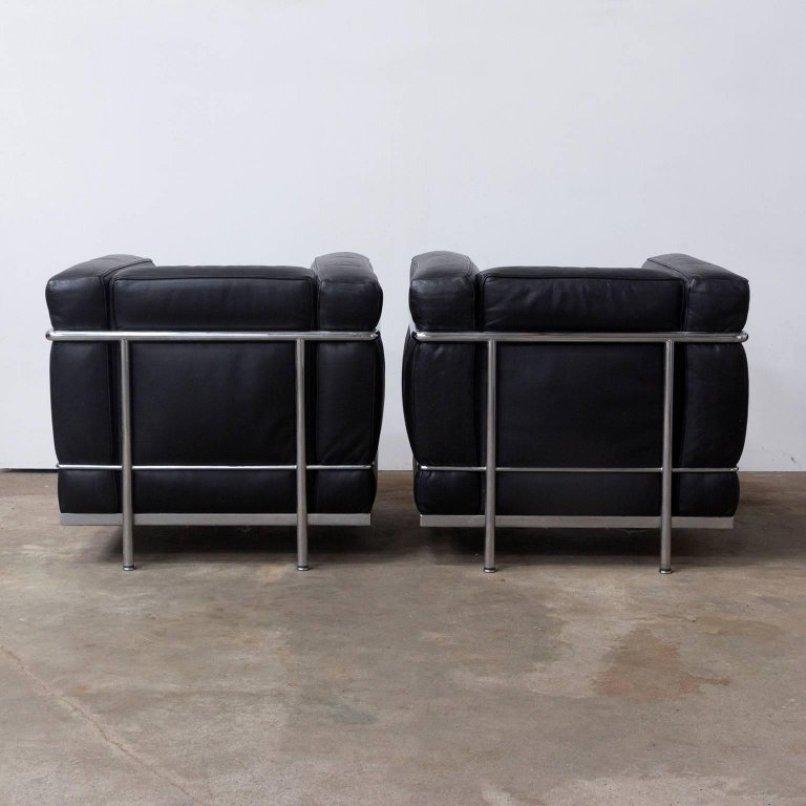 LC2 Sessel von Le Corbusier für Cassina, 1920er, 2er Set bei Pamono ...