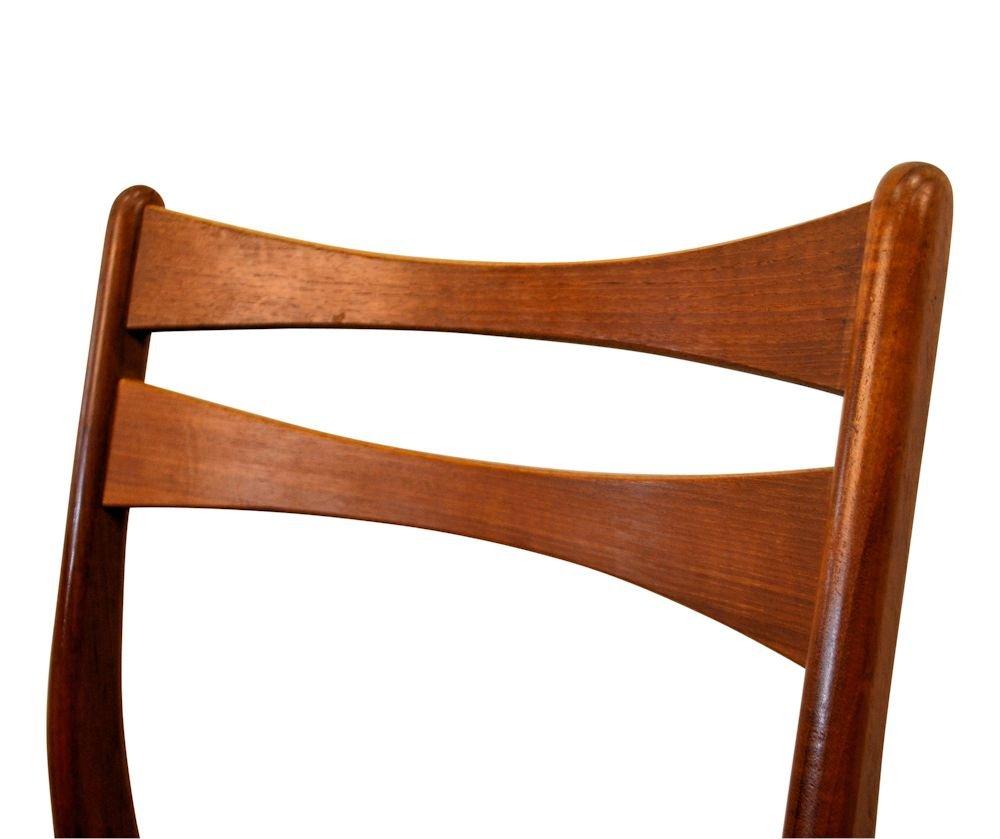 d nische vintage teak esszimmerst hle in weinrotem bezug. Black Bedroom Furniture Sets. Home Design Ideas