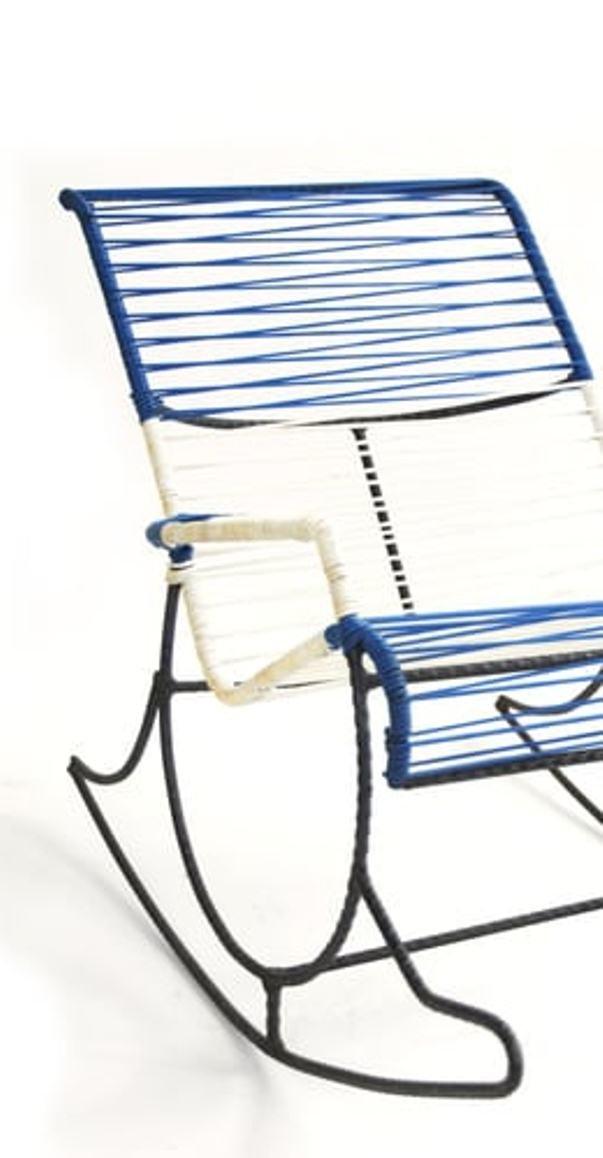 Amerikanischer rebar string schaukelstuhl 1950er bei for Schaukelstuhl auf englisch