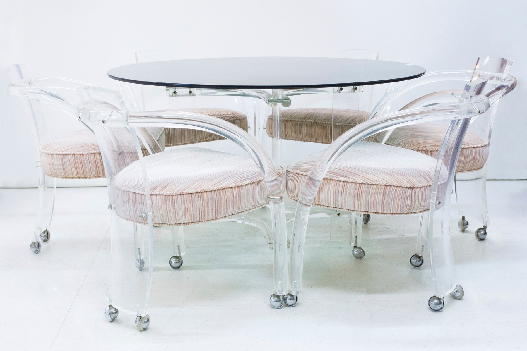 Lucite Dining Table U0026 6 Chairs Set By Charles Hollis Jones, 1960s