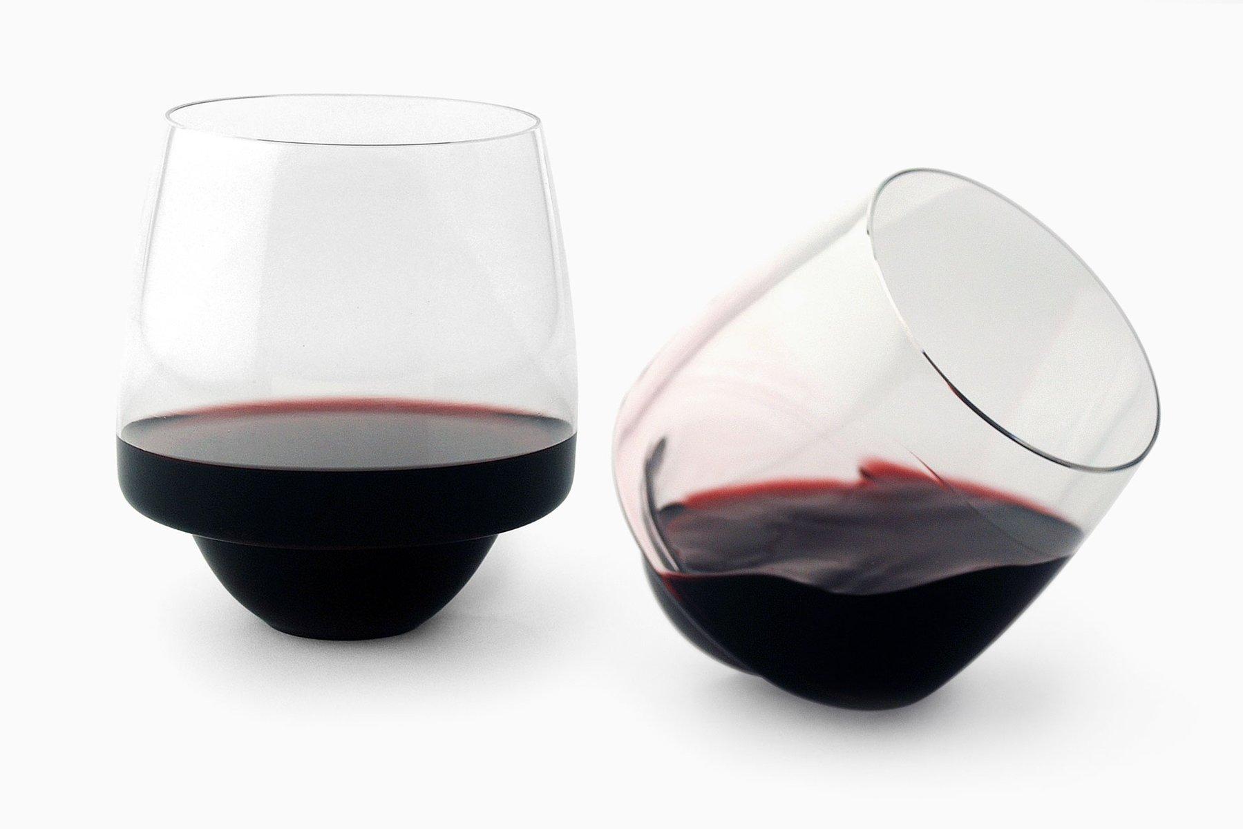 Set of 4 saturn wine glasses by superduperstudio en vente for Super u champagne