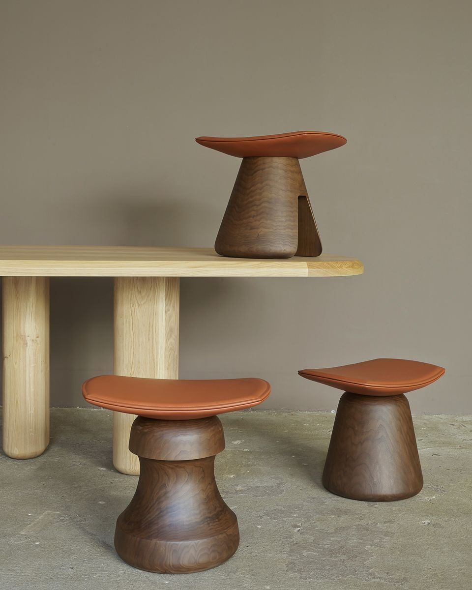 mat stool by christophe delcourt for sale at pamono. Black Bedroom Furniture Sets. Home Design Ideas