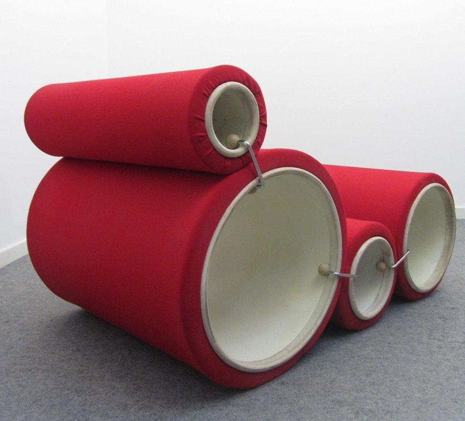 tube chair par joe colombo pour flexform 1969 en vente. Black Bedroom Furniture Sets. Home Design Ideas