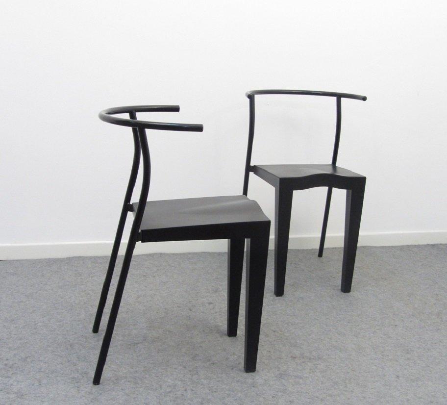 chaises dr glob vintage par philippe starck pour kartell 1988 en vente sur pamono. Black Bedroom Furniture Sets. Home Design Ideas