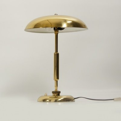 Vintage brass table lamp 1930s