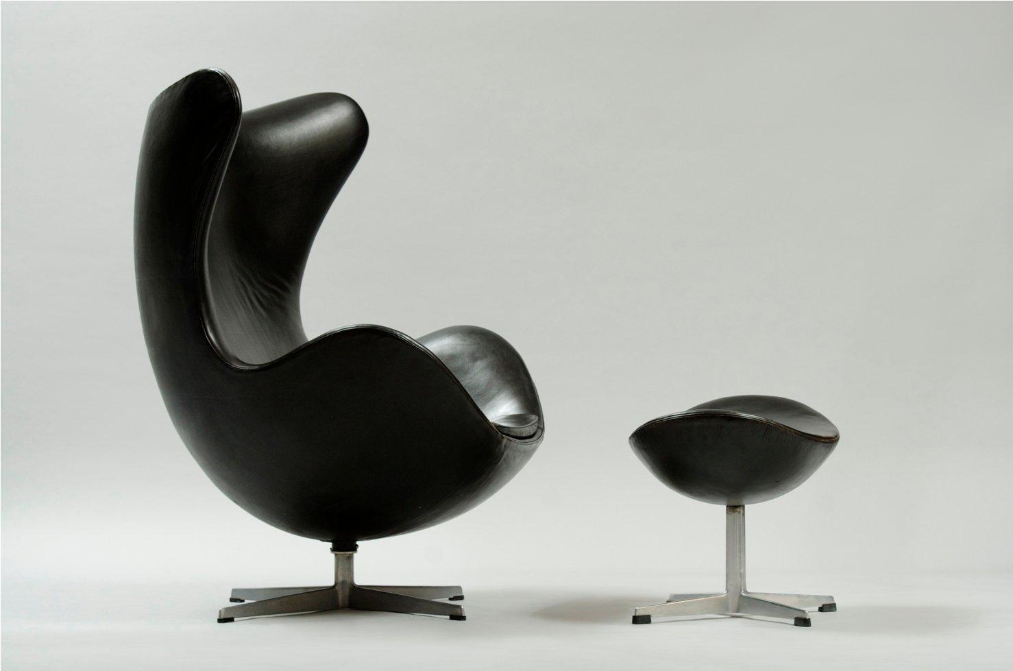 egg chair und ottoman von arne jacobsen fr fritz hansen bei pamono kaufen - Egg Chair Kaufen