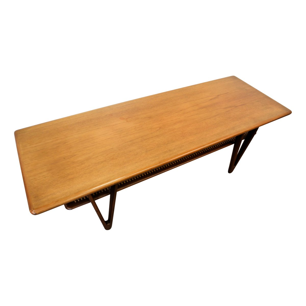 Teak Atomic Coffee Table: Mid-Century Modern Danish Teak Coffee Table, 1950s For