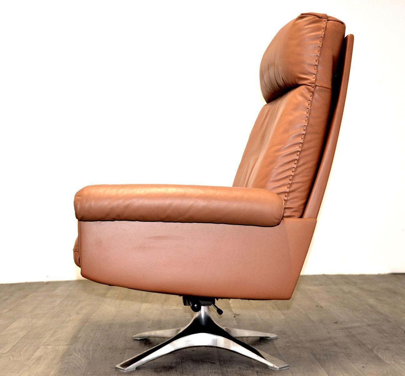 ds 31 hellbrauner vintage leder lounge sessel von de sede. Black Bedroom Furniture Sets. Home Design Ideas