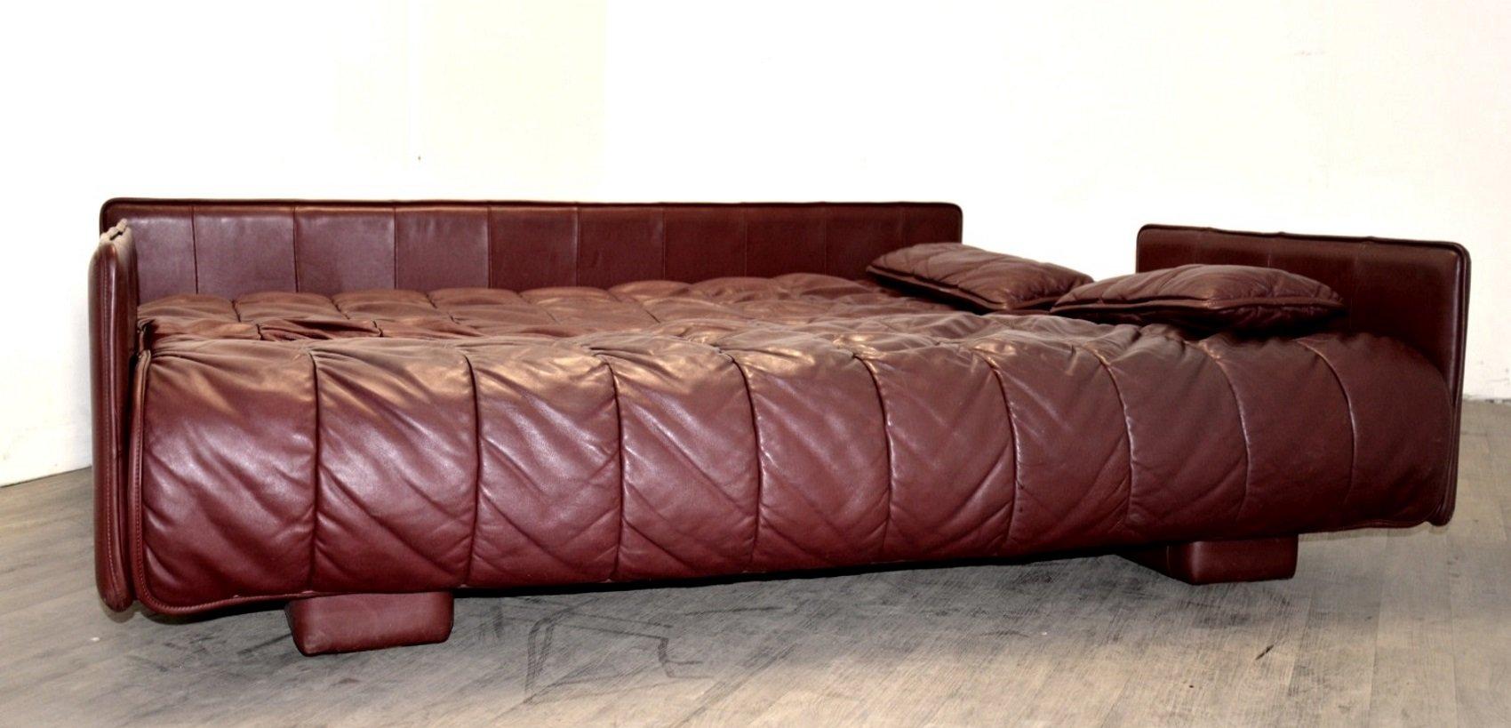 schweizer leder schlafsofa von de sede 1970er bei pamono. Black Bedroom Furniture Sets. Home Design Ideas