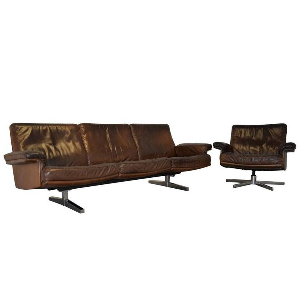 ds 35 sofa und sessel von de sede 1960er bei pamono kaufen. Black Bedroom Furniture Sets. Home Design Ideas