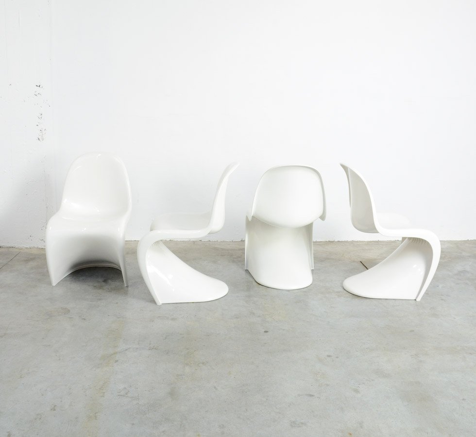 Lovely S Chairs By Verner Panton For Herman Miller, 1973, Set Of 4 For Sale At  Pamono