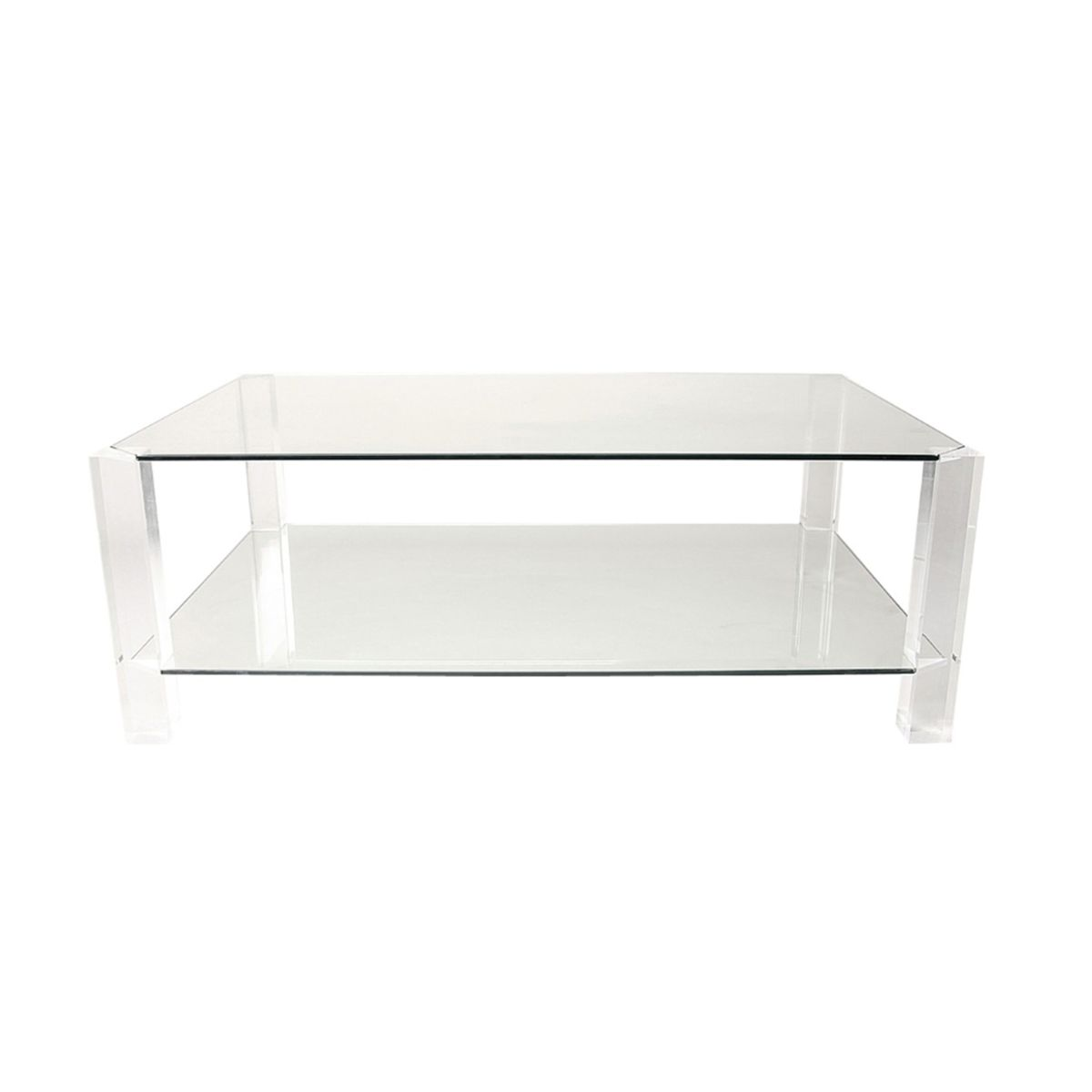 Glass lucite coffee table by andrew sarah hills for porta romana 2003