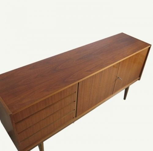 scandinavian walnut sideboard from musterring 1950s for. Black Bedroom Furniture Sets. Home Design Ideas