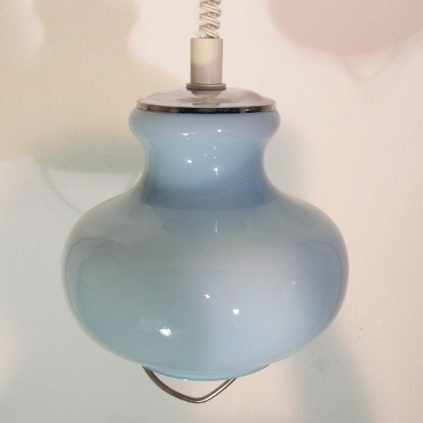 italienische deckenlampe aus glas von murano 1970er bei pamono kaufen. Black Bedroom Furniture Sets. Home Design Ideas