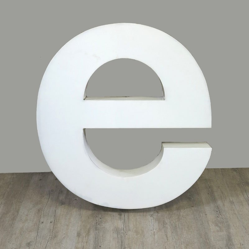 Large vintage letter e wall decor 1970s for sale at pamono for Large letter k wall decor