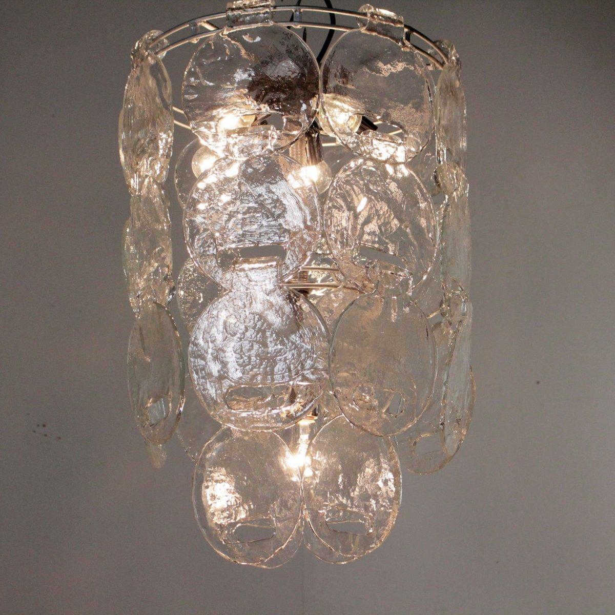 italienische vintage deckenlampe aus metall geblasenem. Black Bedroom Furniture Sets. Home Design Ideas