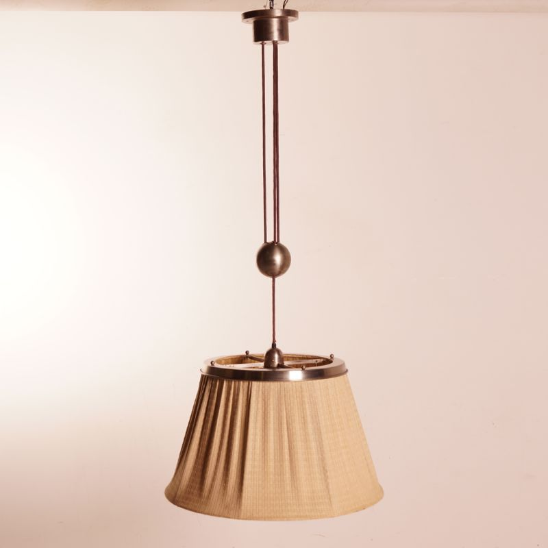 Vintage Dutch Pendant Light By WH Gispen For